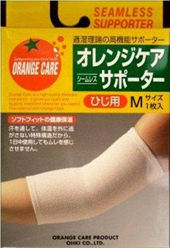 オレンジケア シームレスサポーター ひじ用 Mサイズ(1枚入)