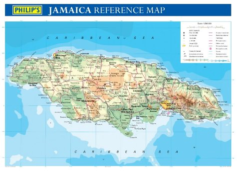 Philips Wall Maps: Jamaica