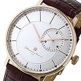 サルバトーレマーラ Salvatore Marra メンズ 腕時計 薄型 デイトカレンダー 時計クロス付き PGSV [並行輸入品]