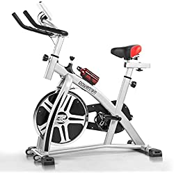 Powertrain Home Gym Flywheel Exercise Spin Bike - Silver
