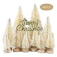 PovKeever ミニクリスマスツリー 雪松 クリスマスの飾り ミニ植毛雪松 デスクトップウィンドウの装飾 雰囲気 人工 休日の装飾 装飾グレー 置物 可愛い