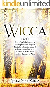 Wicca: Book of spells for beginner to become professional magician. Starter kit to learn the magic of herbs, the magic of the moon, of candle, of crystal ... of the magic of Wicca (English Edition)