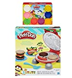 Play-Doh Burger Barbecue Play Set + Play-Doh Rainbow Starter Pack Bundle