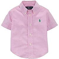 【ラルフローレン】RALPH LAUREN ギンガムチェック半袖シャツ ピンク☆12M・18M・24M 並行輸入品 男の子 ボーイズ