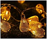 POT LED インテリアライト 電球スタイル 10連 ストリングライト 電池式 点灯 点滅 イルミネーション ライト クリスマス 室内 装飾 に
