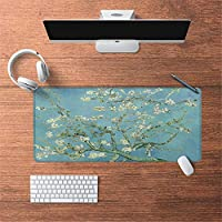 LL-COEUR 油絵 古代のスタイル オリエンタル 大型マウスパッド キーボード ゲーミング オフィス テーブルマット が良い 滑り止めゴム底(28)