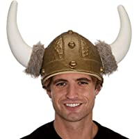 Jacobson Hat Company 角とフェイクファー付きメンズバイキングヘルメット