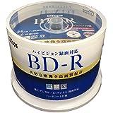 【 G-TOPS 】 BD-R 25GB ブルーレイ ディスク 1-6倍速 ワイド ホワイトプリンタブル 50枚