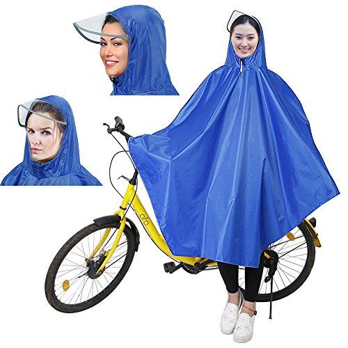 Boonor ポンチョ 自転車レインコート 新型素材 雨から完全保護 レイン ポンチョ 男女兼用 フリーサイズ
