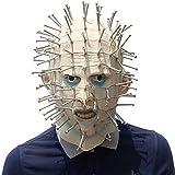 ハロウィーンマスク、プッシュピンラテックスマスク、ハロウィーン、テーマパーティー、カーニバル、レイブパーティー、バー、小道具。