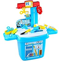 Youtop Doctor Play Set Toy w/ Medical Table Pretend Play for Toddlers