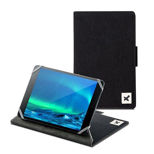 エレコム タブレット汎用ブックタイプケース ファブリック カメラ対応/7.0~8.4inch ブラック TB-08CMFBK 1個