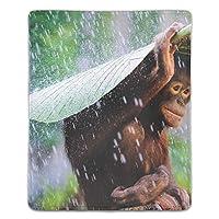 ゲーミング向け 大型マウスパッド デスクマットチンパンジー 防水材質 水で洗えるマウスパッド