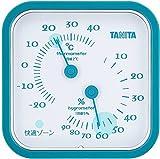 タニタ アナログ温湿度計 置き掛け両用タイプ/マグネット付 ブルー TT-557-BL