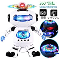 電子ダンシングロボットの子供 点滅ライト、360 °回転してボディ モータースキル 二足歩行 音楽赤外線