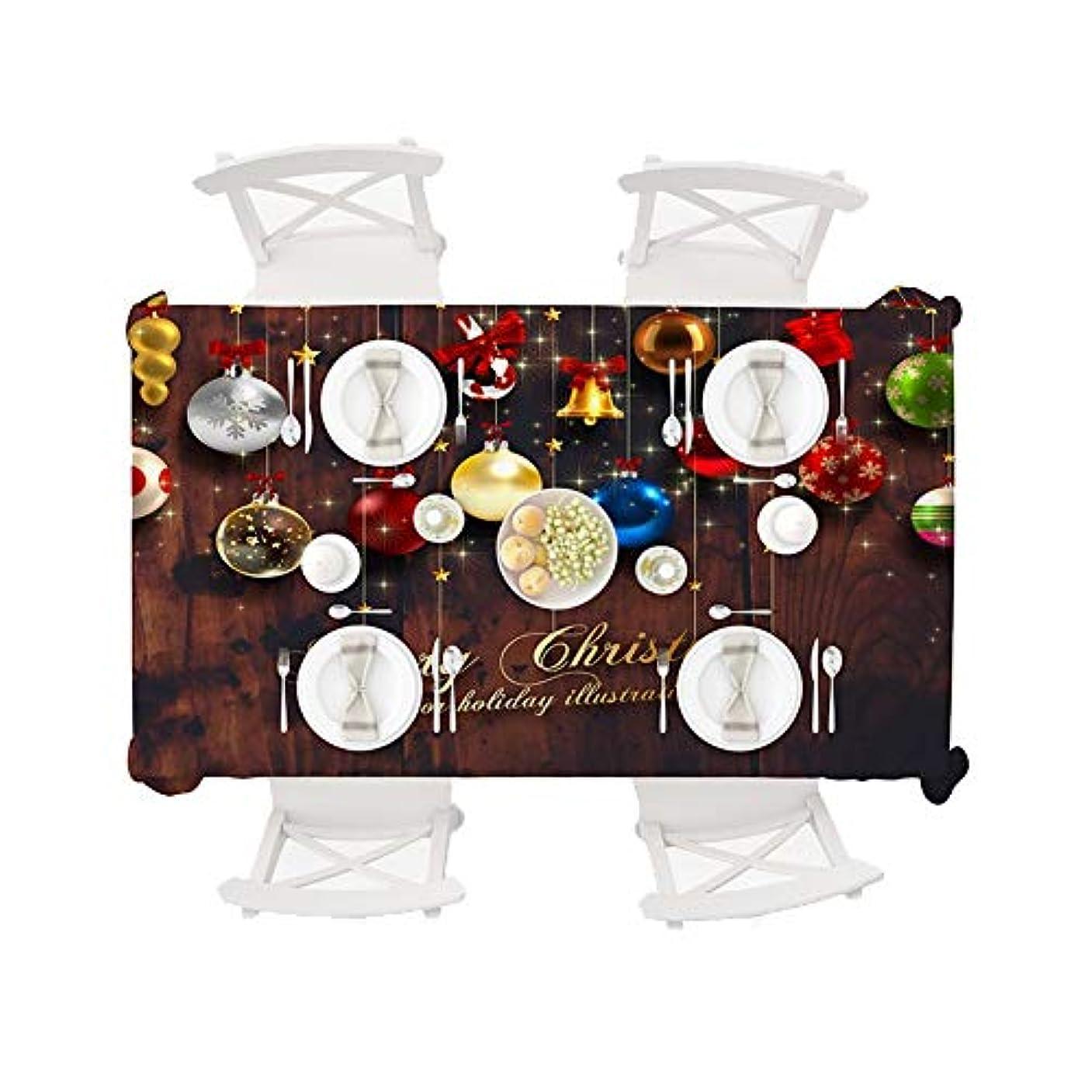 クリック熱心な懐疑的撥水 テーブルクロス クリスマスシリーズクリスマスボールを印刷 洗える (Color : 4, Size : 150*260)