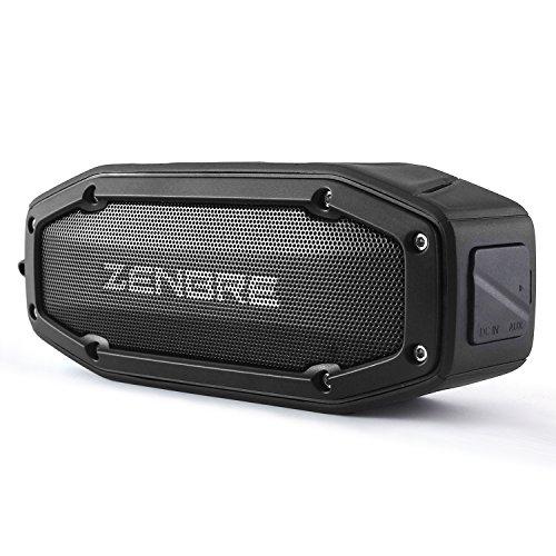Bluetoothスピーカー、ZENBRE D6 アウトドアBluetooth4.1 スピーカー,2x5Wウーファーと増強リゾネーター, ...