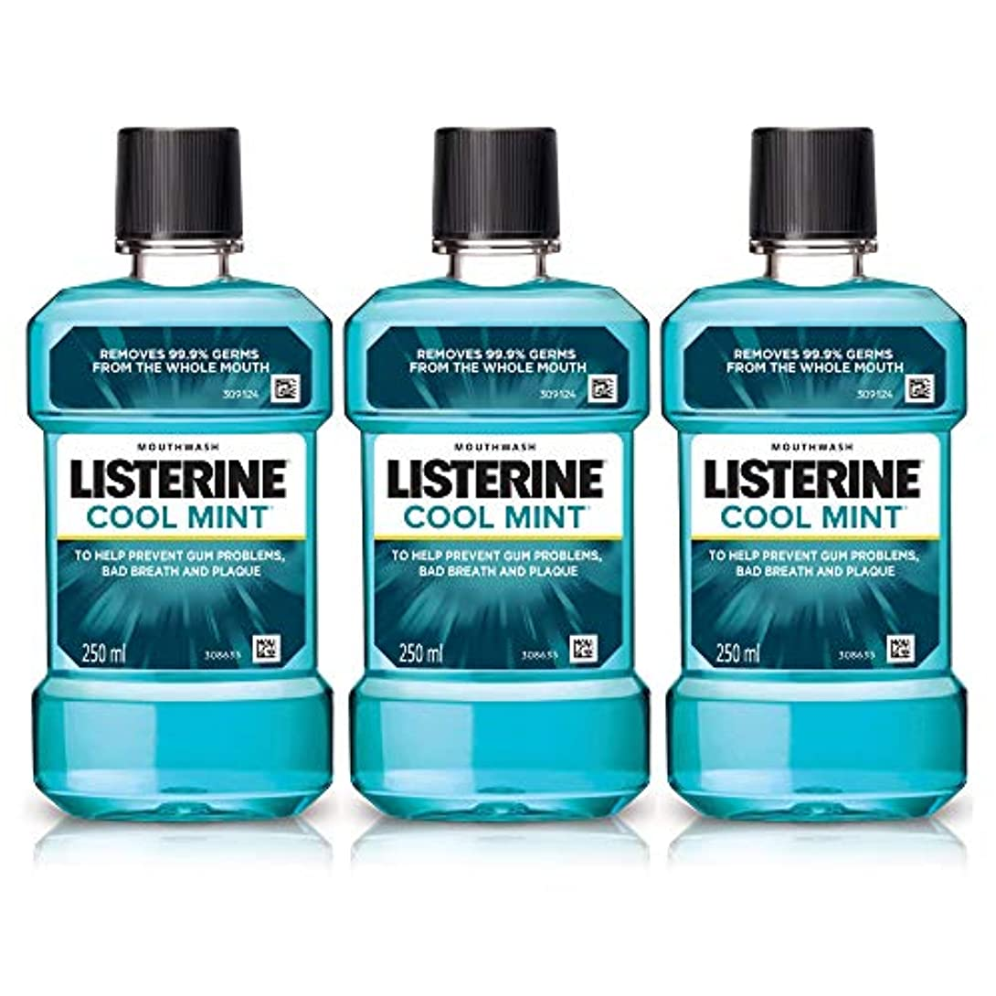 Listerine Cool Mint Mouthwash 250ml (Pack of 3)