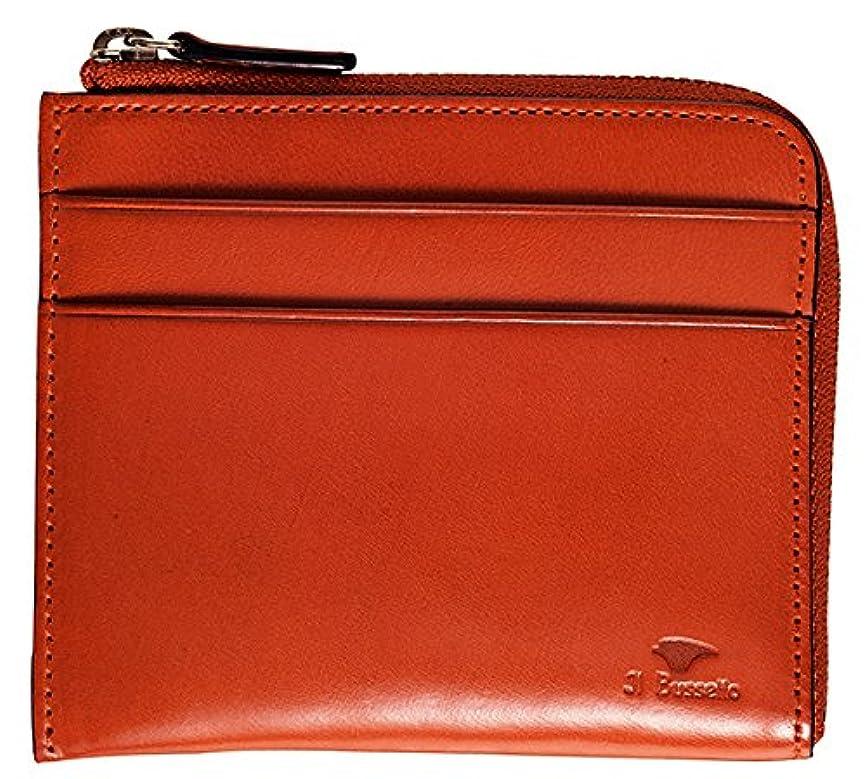 極めて引き付けるスナッチイルブセット  L字型財布 Il Bussetto Zip wallet 牛革 ジップ財布 ファスナー コンパクト ミニマム カジュアル オレンジ