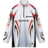ダイワ(Daiwa) 釣り シャツ 長袖 ジップアップシャツ スペシャルアイスドライ メッシュ DE-7006 ホワイト 2XL