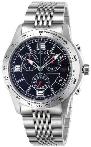 [グッチ]GUCCI 腕時計 Gタイムレス ブラック文字盤 クロノグラフ デイト YA126205 メンズ 【並行輸入品】