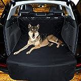 Focuspet ペット ドライブシート ペットシート 後部座席シートカバー 高品質 後部座席用 SUV用 トラック用 防水 汚れに強い 水洗い可能 猫用 犬用 耐久性 ブラック