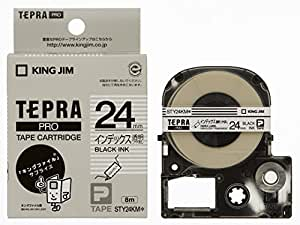 キングジム テープカートリッジ インデックス用透明ラベル テプラPRO 24mm STY24KM