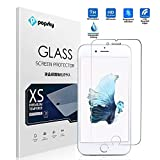 PopSky™ iPhone 6S /iPhone 6S Plus 強化ガラスフィルム採用0.3mm 強化ガラス ラウンドカッティング 硬度9H AGC旭硝子のガラス素材 ラウンドエッジ加工 耐指紋 撥油性 高透過率液晶保護フィルム (iPhone 6S, 強化ガラスフィルム)