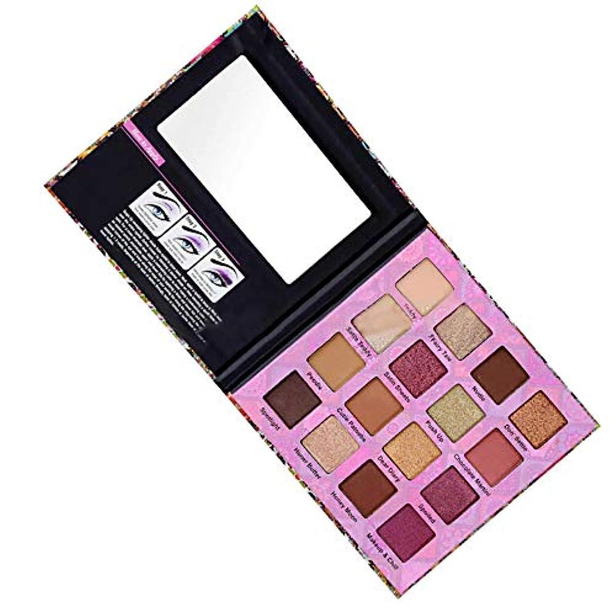 統計著名な染色16色のきらめきのきらめきのアイシャドウの粉のマットのアイシャドウの化粧品の構造