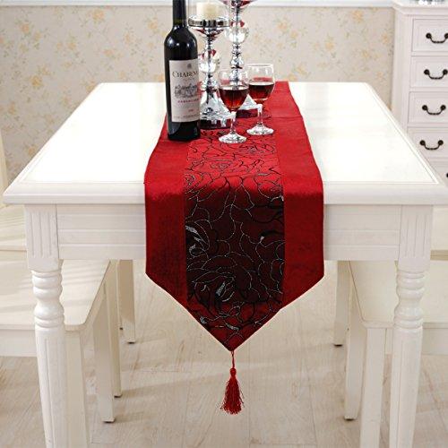 テーブルランナー 北欧 モダン 赤 180
