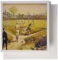 3drose 1800s野球画の写真–グリーティングカード、6x 6インチ、12のセット( GC _ 100646_ 2)