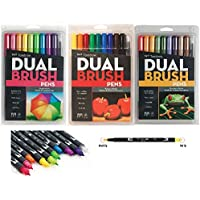 Tombow Dual Brush Pen Art Markers with Primary, Bright and Secondary Colors. by Tombow