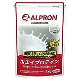 アルプロン ホエイプロテイン100 無添加 プレーン 1kg【約50食】