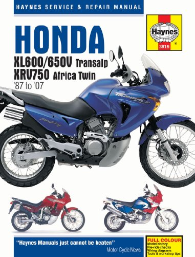 Honda XL600/650V Transalp & XRV750 Africa Twin '87 to '07 (Haynes Service & Repair Manual)