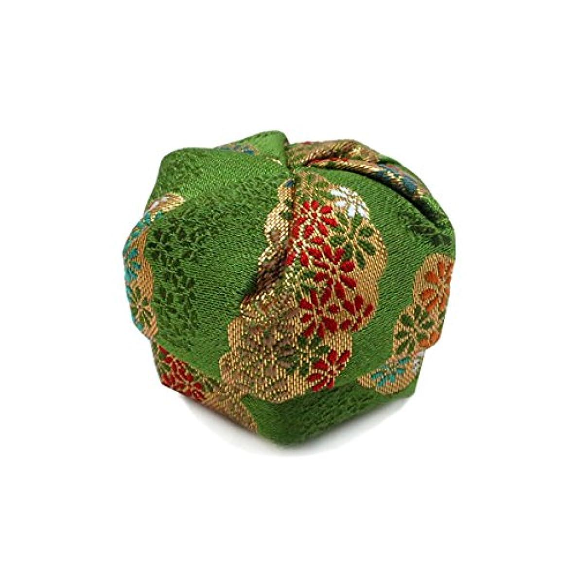 オリエント暖かさ権威布香盒 緑系 紙箱入