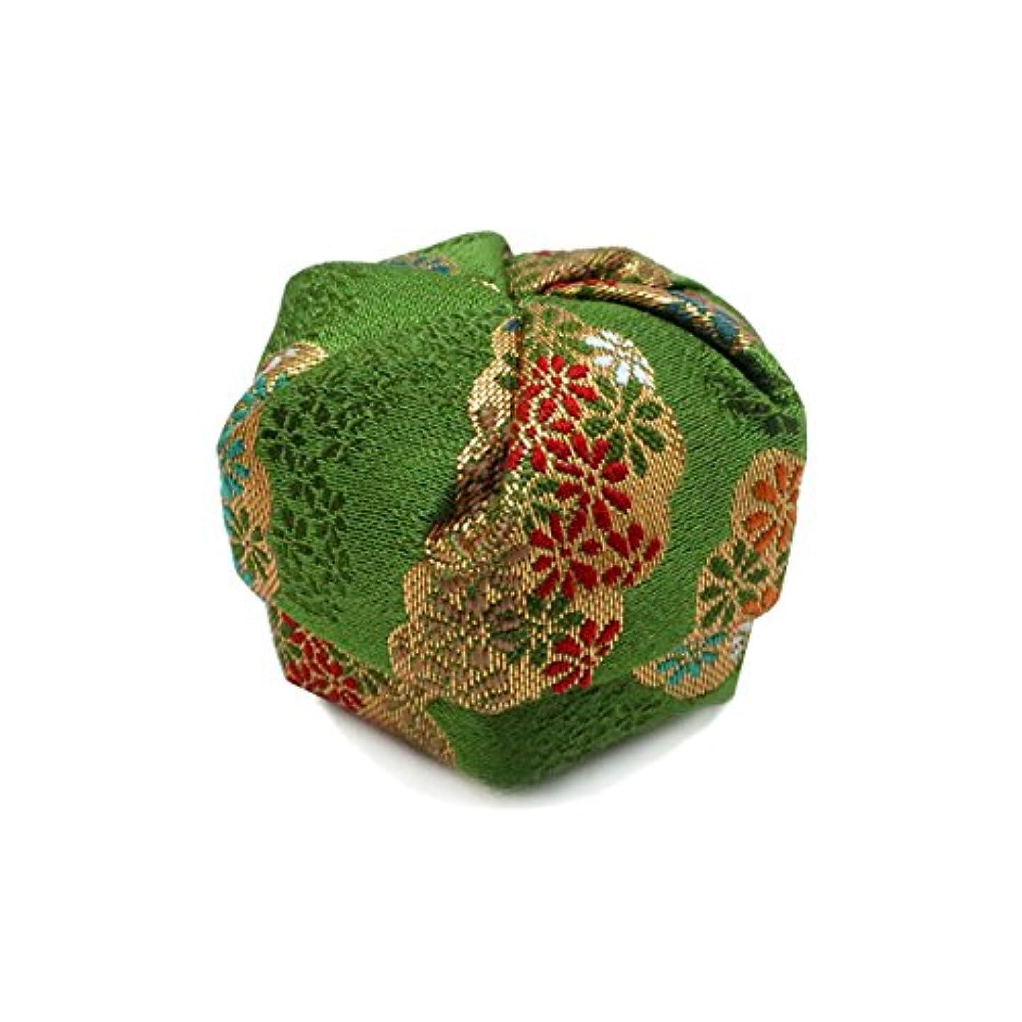 花嫁珍味地震布香盒 緑系 紙箱入