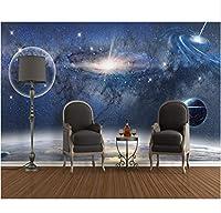 Wuyyii カスタム壁紙3D審美的な星空スペースブラックホールの背景リビングルームベッドルームテレビソファの背景3D Wallpaper