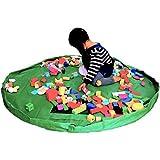 プレイマット レゴ レゴマット おもちゃ おままごと ビーズ お片付け/簡単/収納/軽量/耐水/大型/150cm (グリーン) DOG CAMPER