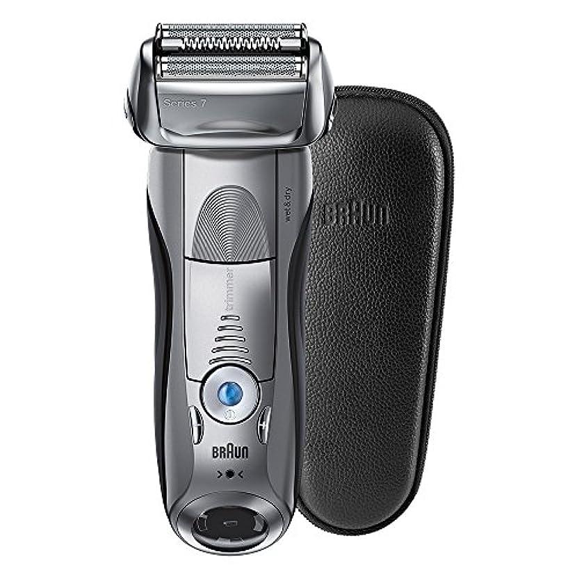 クリーム島漂流ブラウン メンズ電気シェーバー シリーズ7 7893s-SP 4カットシステム 水洗い/お風呂剃り可 本革ケース付