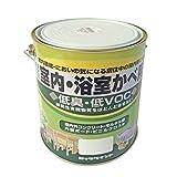 ロックペイント 水性ツヤ消し塗料 室内・浴室かべ用 しろ 1.6L H31-0502-6S