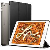 ESR iPad Mini 5 2019 ケース 薄型 PU レザー スマート カバー キズ防止 クリア ハード 背面 ケース 三つ折り スタンド オートスリープ ウェイクアップ 機能 iPad Mini5(第五世代) 専用(ブラック)