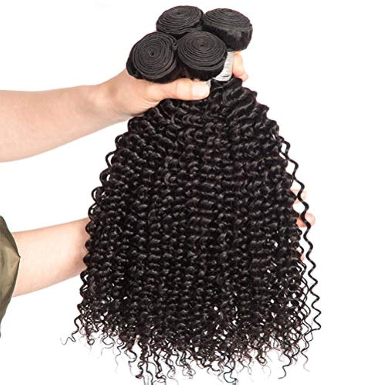 カスタム対称後悔女性150%密度ブラジルの変態カーリーヘアバンドルブラジルの髪1バンドルブラジル人毛バンドルカーリーヘア