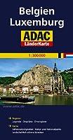ADAC LaenderKarte Belgien / Luxemburg 1 : 300 000: Register: Legende, Cityplaene, Orsregister. Karte: Sehenswuerdigkeiten, Natur- und Nationalparks, landschaftlich schoene Strecken