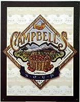 なまけ者雑貨屋 Campbell's Soup Basket アメリカン 60'S レトロ ブリキ 看板 メタルプレート アンティーク おしゃれ 雑貨 インテリア