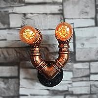 GYP ウォールランプウォーターパイプカフェ通路の装飾バルコニーランプレストランバー鉄水パイプウォールランプ ( 色 : A )