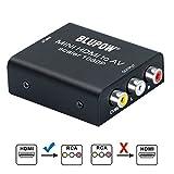 BLUPOW HDMI コンポジット変換 hdmi rca 変換 1080P対応 hdmi av 変換 hdmi コンポジット コンバーター デジタル アナログ 変換器 PS3・PS4・XBOX・TVBOX・Blu-ray Player・PCなど対応 hdm to rca