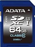 ADATA Premier SDXCカード 64GB Class10 UHS-I ASDX64GUICL10-R
