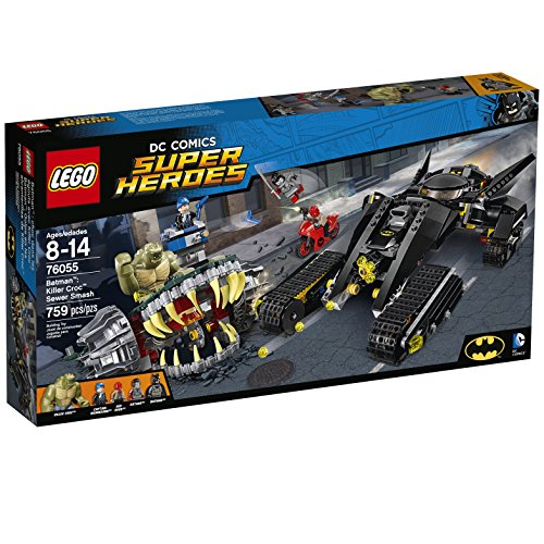 LEGO Super Heroes 76055 Batman: Killer Croc Sewer Smash Building Kit (759 Piece) by LEGO