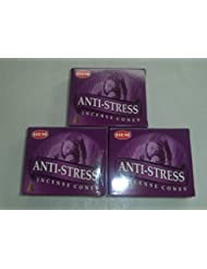 裾Anti Stress Incense Cones、3パックの10 Cones = 30 Cones