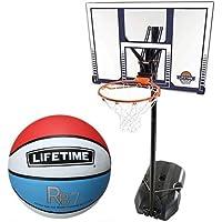 ライフタイム バスケットゴール+ボールリターン+5号ボールセット LT-90001RE